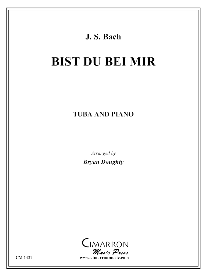 Bach, J S - Bist du bei mir - Tuba and Piano