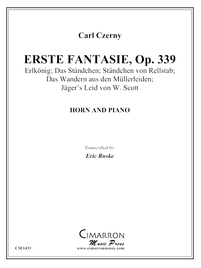Czerny, Carl - Erste Fantasie - French Horn and Piano