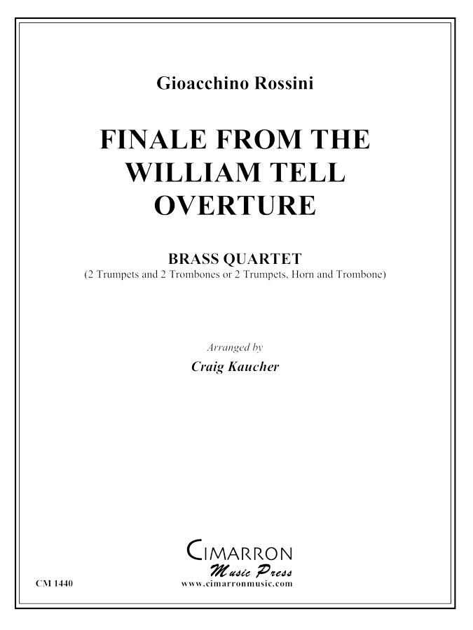 Rossini, G - Finale from William Tell - Brass Quartet