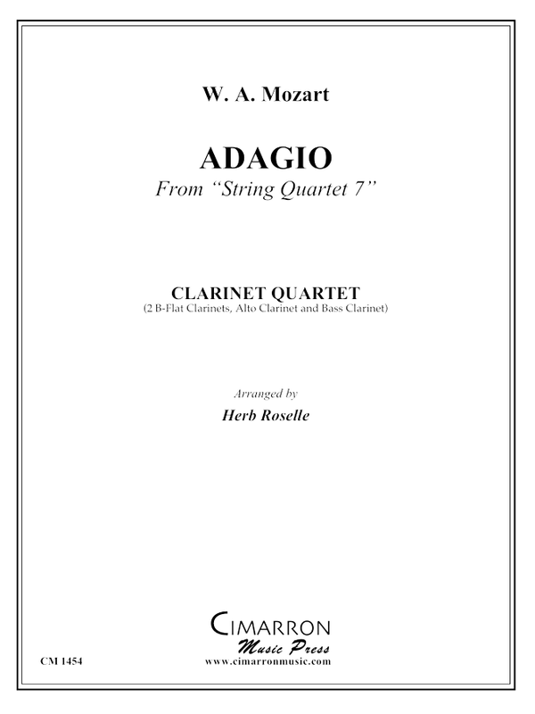 Mozart - Adagio from String Quartet No 7 - Clarinet Quartet