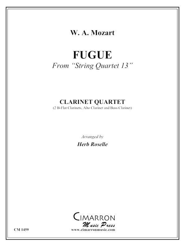 Mozart - Fugue from String Quartet 13 - Clarinet Quartet