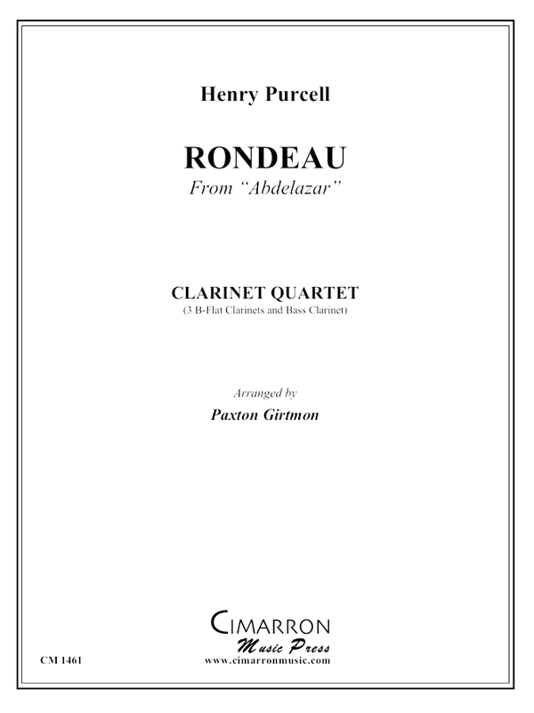 Purcell - Rondeau from Abdelazar - Clarinet Quartet