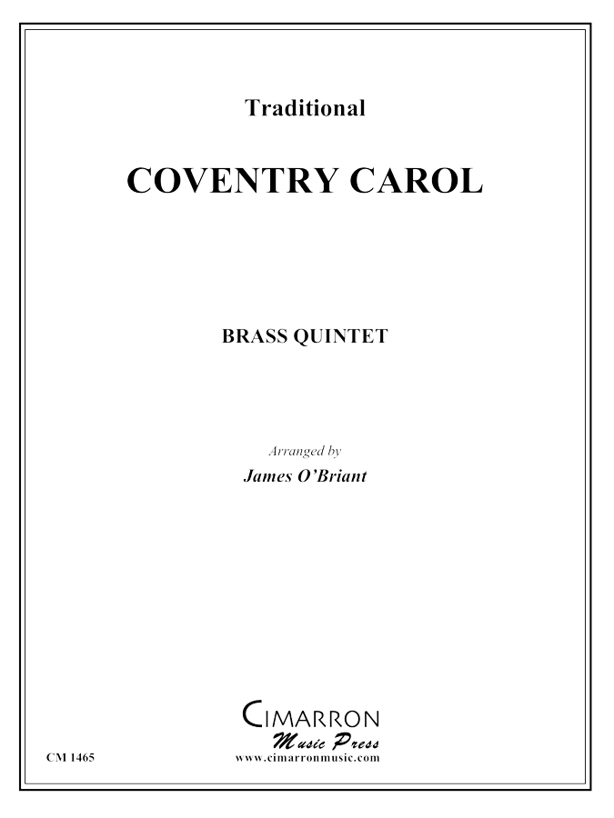 Traditional - Coventry Carol - Brass Quintet