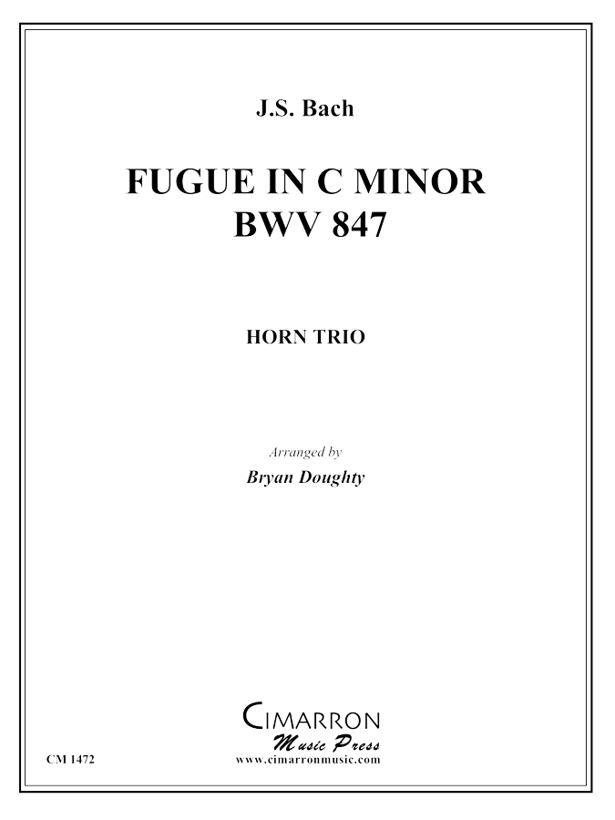 Bach, JS - Fugue in c minor, BWV 847 - Horn Trio