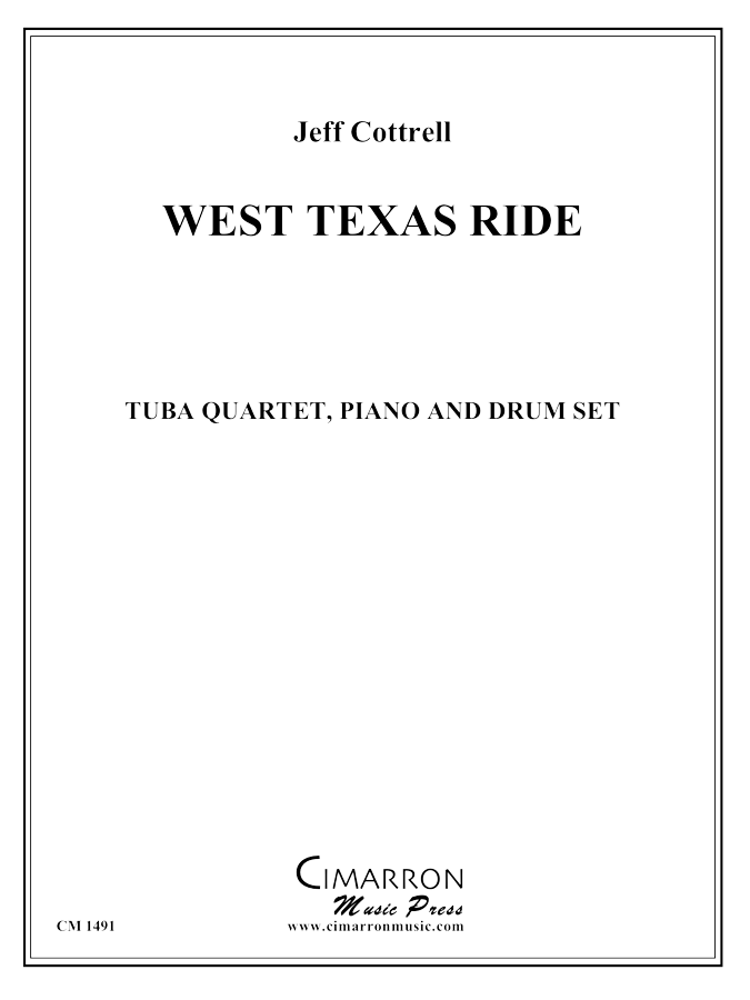Cottrell, J. - West Texas Ride - Tuba quartet (EETT)