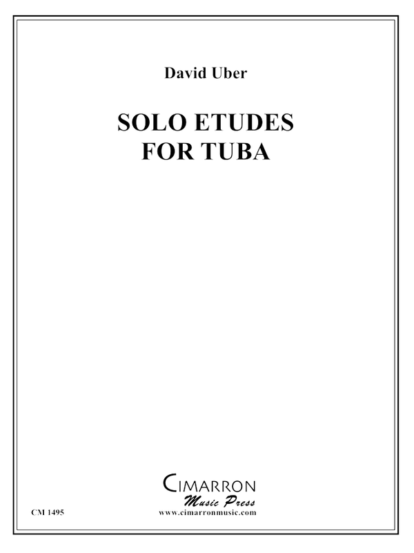 Uber, D - Solo Etudes for Tuba - Tuba Methods