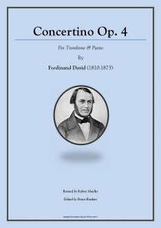 David – Concertino Op. 4 - Trombone and Piano