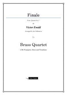 "Ewald - Finale from ""Quintet No.1"" - Brass Quartet"