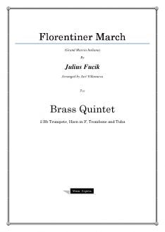 Fucik - Florentiner March - Brass Quintet