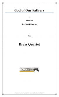 Warren - God Of Our Fathers - Brass Quartet