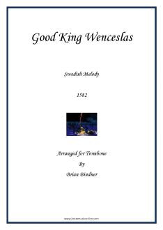 Good King Wenceslas for Trombone and Piano