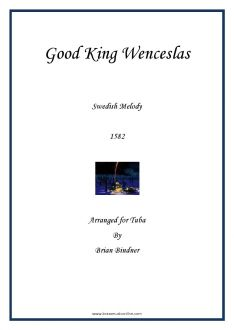 Good King Wenceslas - Tuba and Piano