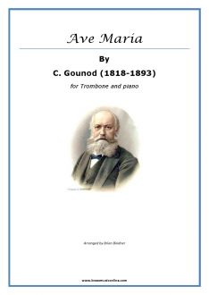 Gounod - Ave Maria for Trombone and Piano