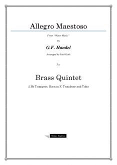 "Handel - Allegro Maestoso from ""Water Music"" - Brass Quintet"