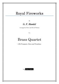 Handel - Royal Fireworks - Brass Quartet