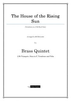 Holcombe - House of the Rising Sun - Brass Quintet