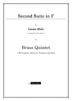 Holst - Second Suite in F - Brass Quintet