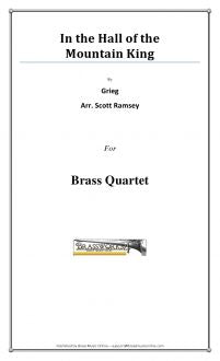 Grieg - In the Hall of the Mountain King - Brass Quartet