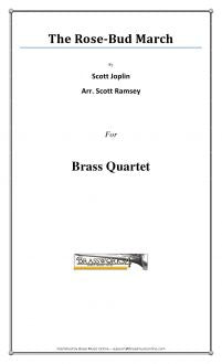 Joplin - The Rose-Bud March - Brass Quartet