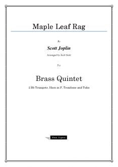 Joplin - Maple Leaf Rag - Brass Quintet