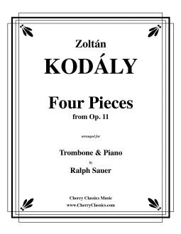 Kodaly – Four Pieces from Op. 11 for Trombone & Piano