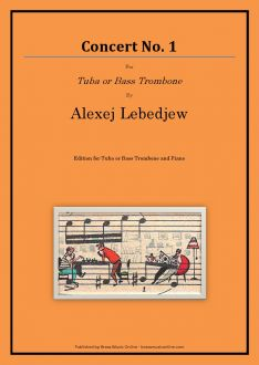 Lebedjew - Konzert No. 1 - Tuba or Bass Trombone and Piano