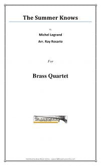 Legrand - The Summer knows - Brass Quartet