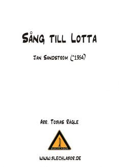 Song to Lotta - Brass Ensemble