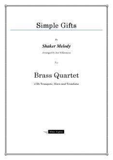 Melody - Simple Gifts - Brass Quartet