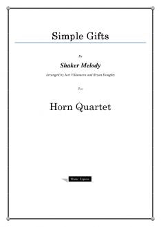 Melody - Simple Gifts - Horn Quartet
