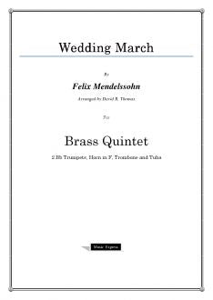 Mendelssohn - Wedding March - Brass Quintet