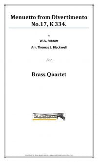 W.A. Mozart - Menuetto from Divertimento No. 17, K 334 - Brass Quartet