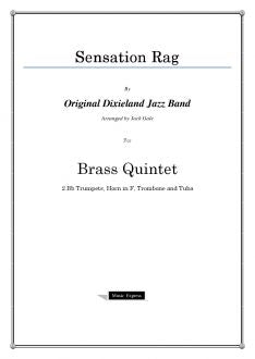 Gale - Sensation Rag - Brass Quintet