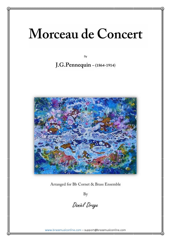 Pennequin - Morceau de Concert - Cornet and Brass Ensemble