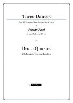 Pezel - Three Dances - Brass Quartet