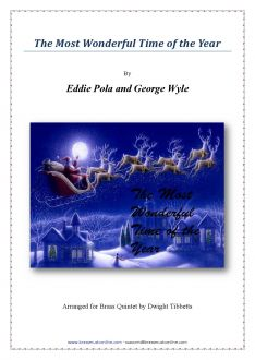 Pola-Wyle -  It's the Most Wonderful Time of the Year - Brass Quintet