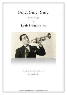 Prima - Sing, sing, sing - Brass Quintet and Drum set