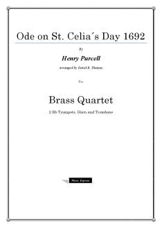 Purcell - Ode on St. Celia´s day 1692 - Brass Quartet