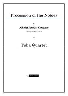 Rimsky-Korsakov - Procession of the Nobles - Tuba Quartet
