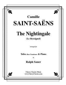Saint-Saëns, Camille – The Nightingale for Bass Trombone and Piano