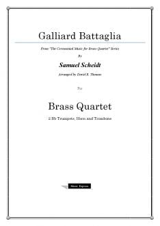Scheidt - Galliard Battaglia - Brass Quartet
