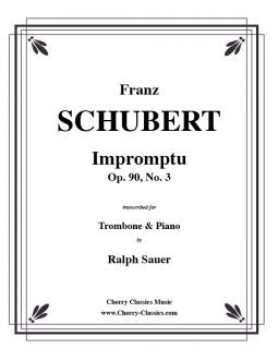 Schubert – Impromptu, Op. 90, No. 3 for Trombone and Piano