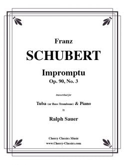 Schubert - Impromptu Op. 90, No 3 for Tuba or Bass Trombone and Piano