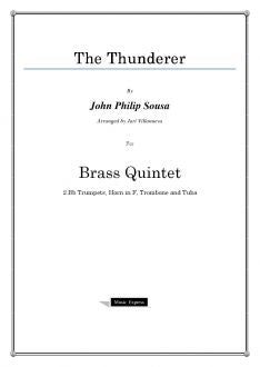 Sousa - The Thunderer - Brass Quintet