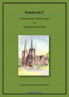 Sonata in C - Brass Quintet, Timpani and Organ
