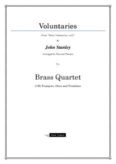 Stanley - Voluntaries - Brass Quartet