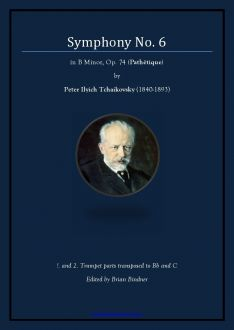 Tchaikovsky 6 - Trumpet parts transposed Complete