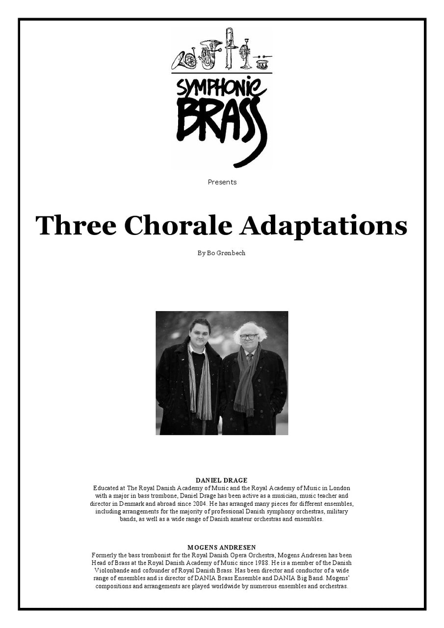 Groenbech - Three Chorale Adaptations - Symphonic Brass Ensemble