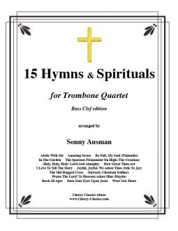 Traditional – 15 Hymns & Spirituals for Trombone Quartet (Bass clef edition)