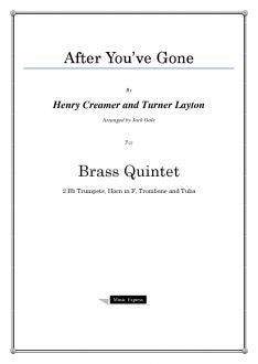 Traditional - After You've Gone - Brass Quintet